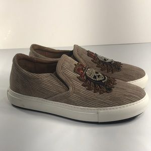 Donald J Pliner Caleb Men/'s Beaded Skull Slip-On Sneakers Shoes
